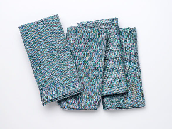 Irish Linen Napkins, Amalfi Blue