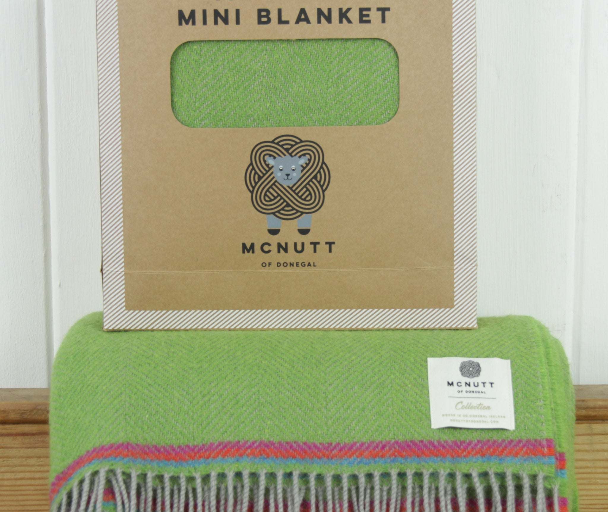 My First Mini Blanket, Parrot Green, McNutt