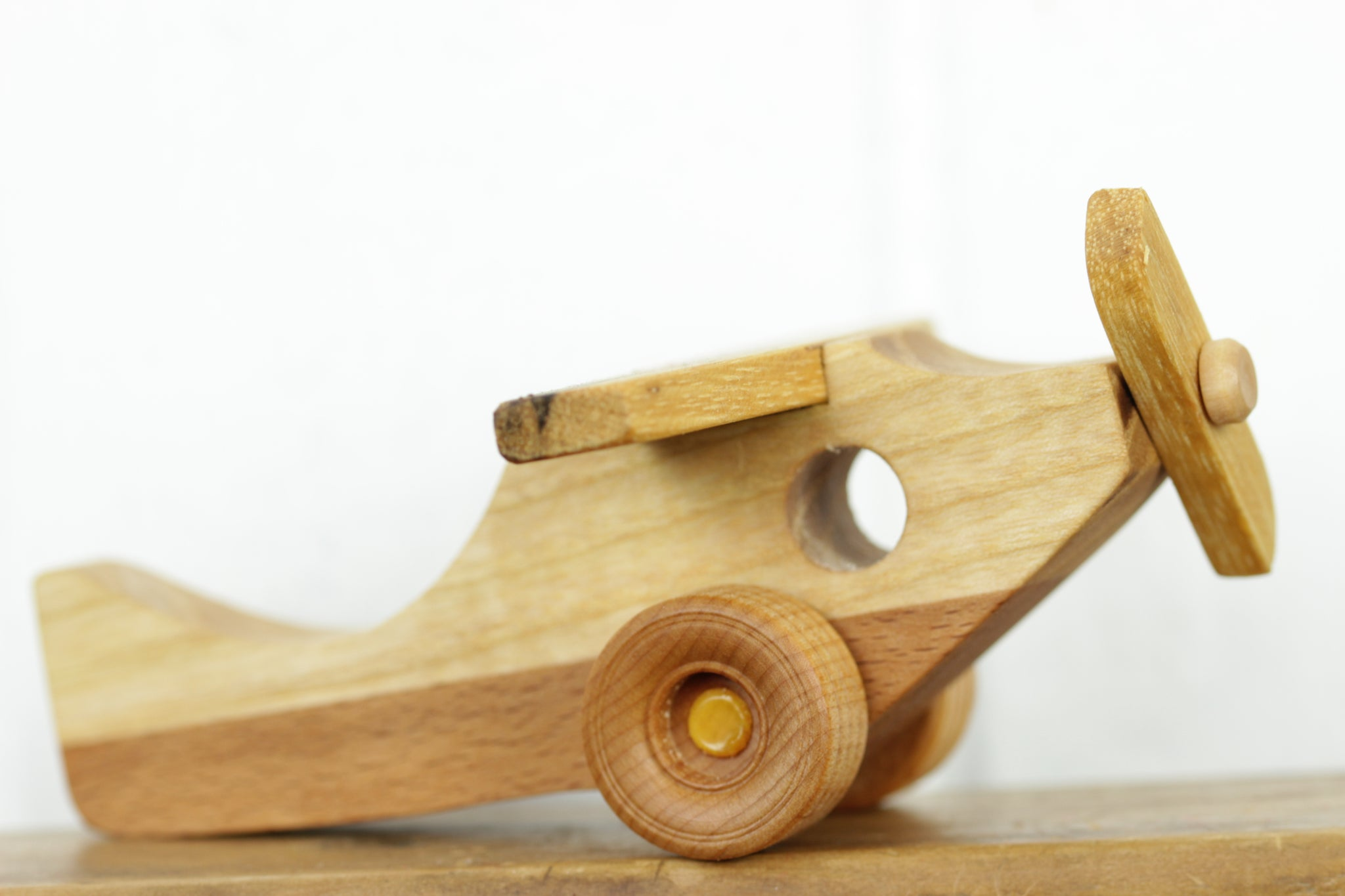 Wooden Plane, No Noise Toys