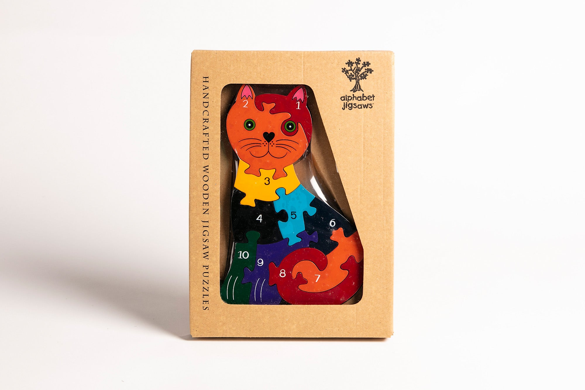 Wooden Jigsaw Puzzle, Numbers Cat, Alphabet Jigsaws