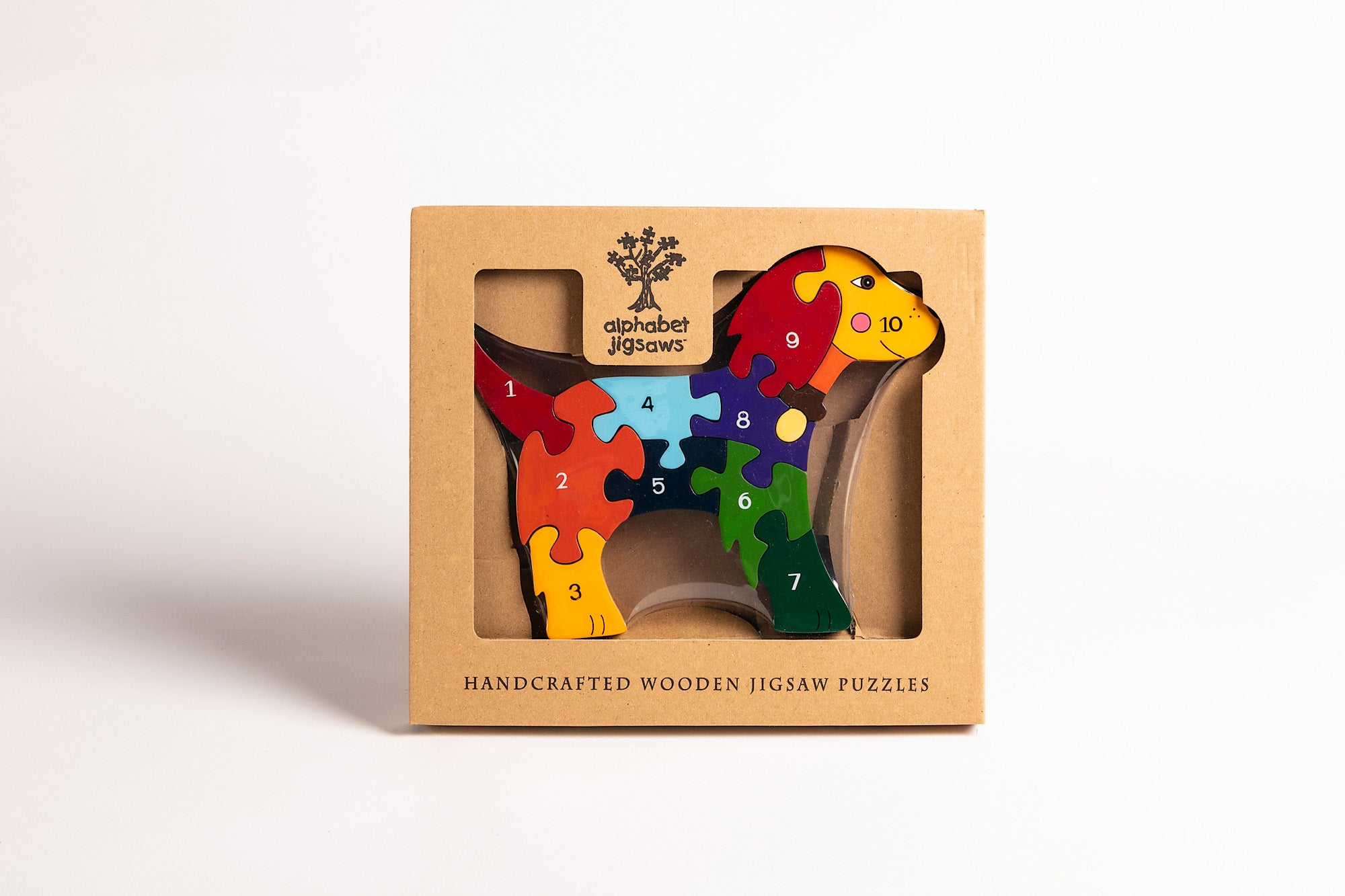 Wooden Jigsaw Puzzle, Numbers Dog, Alphabet Jigsaws