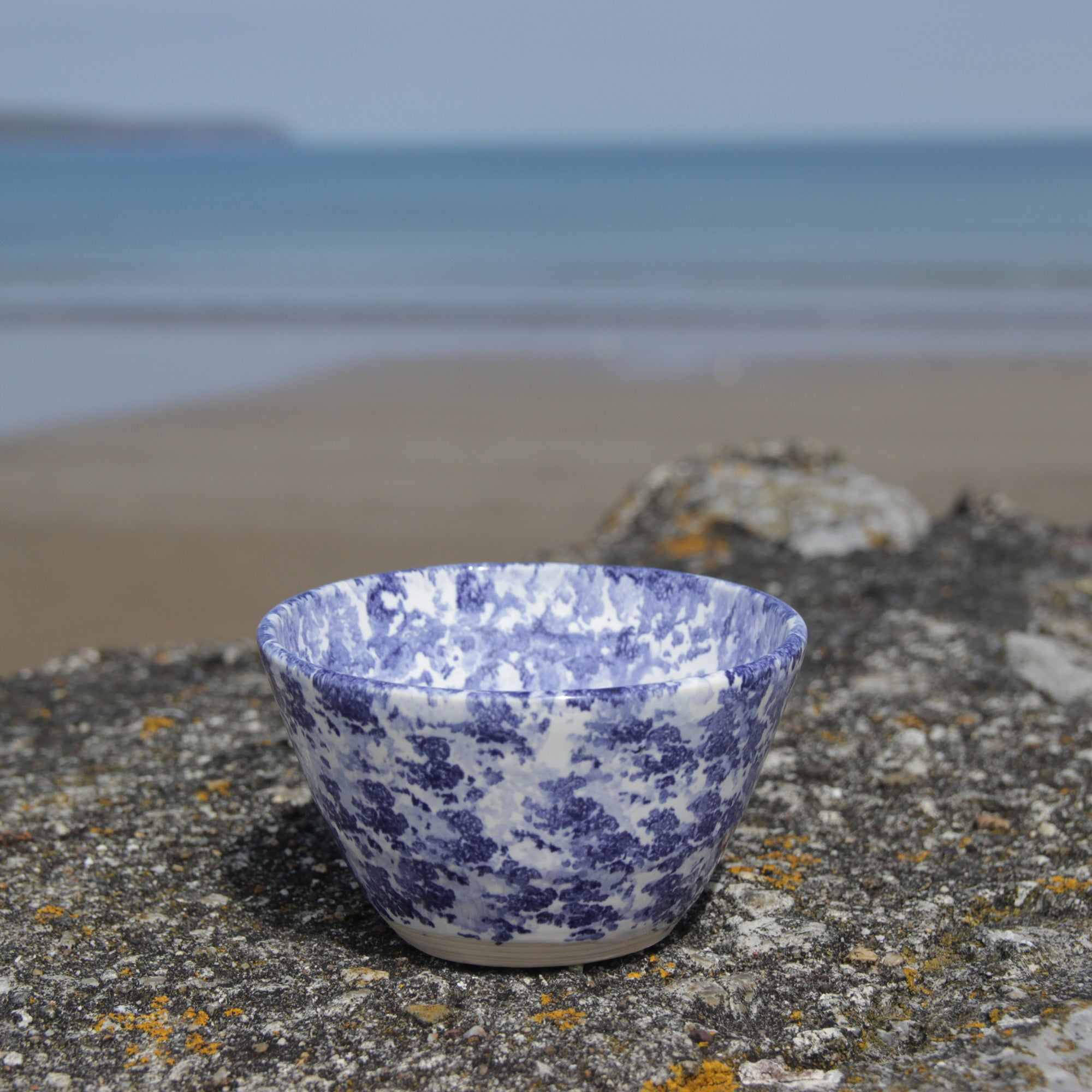 Sugar Bowl, Dark Blue Sponged
