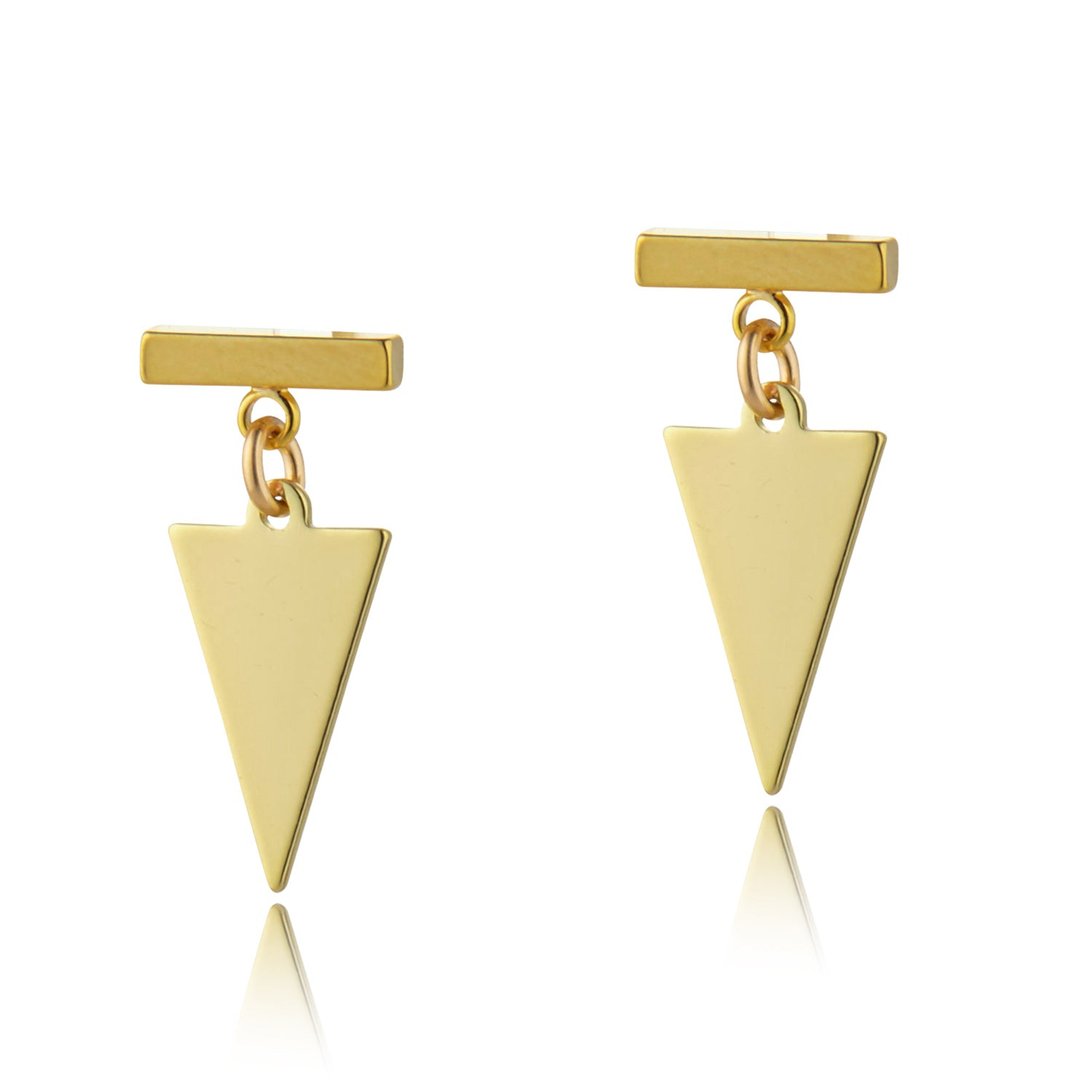 Bar Arrow Studs, Scribble & Stone