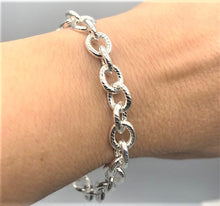 Load image into Gallery viewer, SILVER rolo bracelet