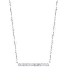 Load image into Gallery viewer, DIAMOND bar necklace and chain