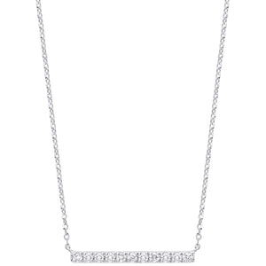 DIAMOND bar necklace and chain