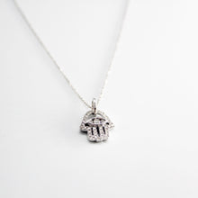 Load image into Gallery viewer, DIAMOND hamsa / hand pendant