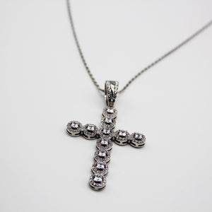SILVER halo Cross pendant