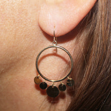 Load image into Gallery viewer, 9k GOLD twinkly hoop earrings