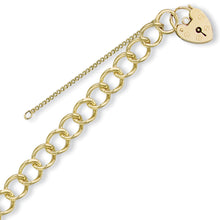 Load image into Gallery viewer, 9k GOLD padlock charm bracelet