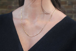 9k GOLD figaro chain