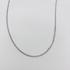 18k GOLD diamond cut belcher chain