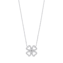 Load image into Gallery viewer, DIAMOND four leaf clover necklace