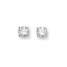 Load image into Gallery viewer, DIAMOND claw set stud earrings