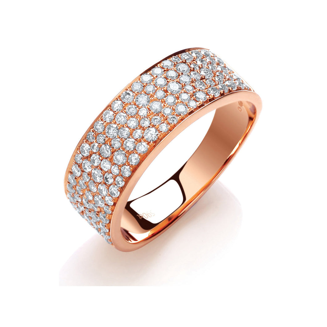 DIAMOND pave set dress ring