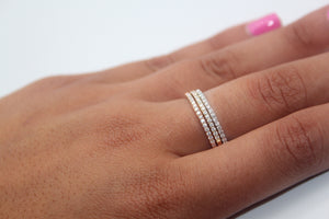 DIAMOND three colour half eternity set