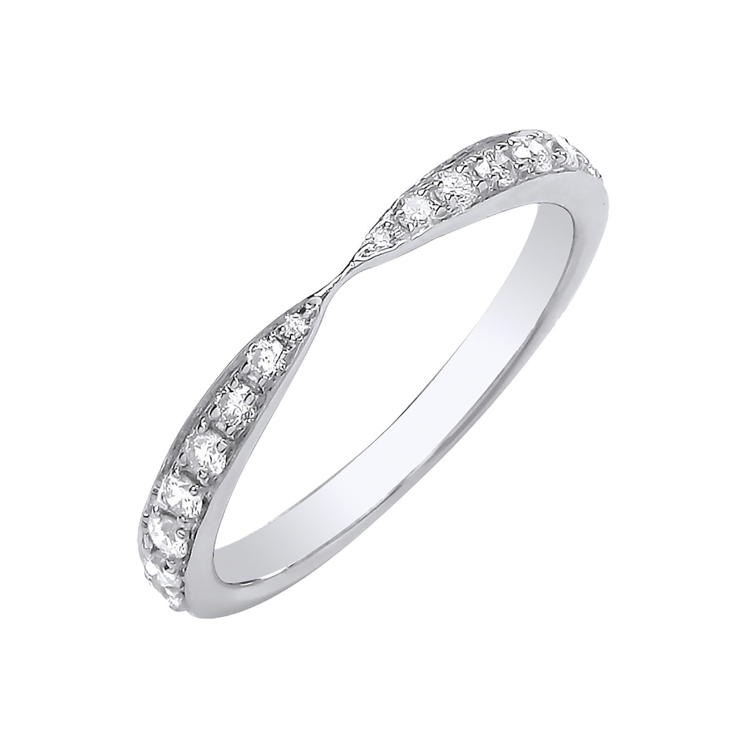 DIAMOND pinched ring
