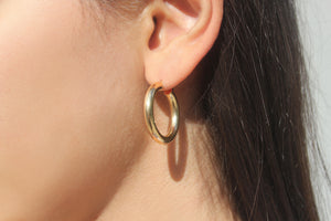 9k GOLD Hoop earrings