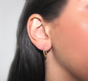 9k GOLD mini hoop earrings