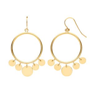9k GOLD twinkly hoop earrings