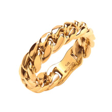 Load image into Gallery viewer, 9k GOLD cuban ring