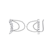 Load image into Gallery viewer, SILVER arc-shaped ear hook earrings