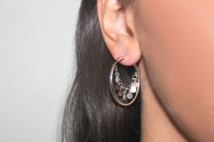 SILVER twinkly earrings