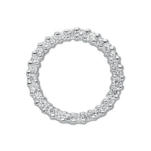Load image into Gallery viewer, SILVER circle of Life Cz Pendant
