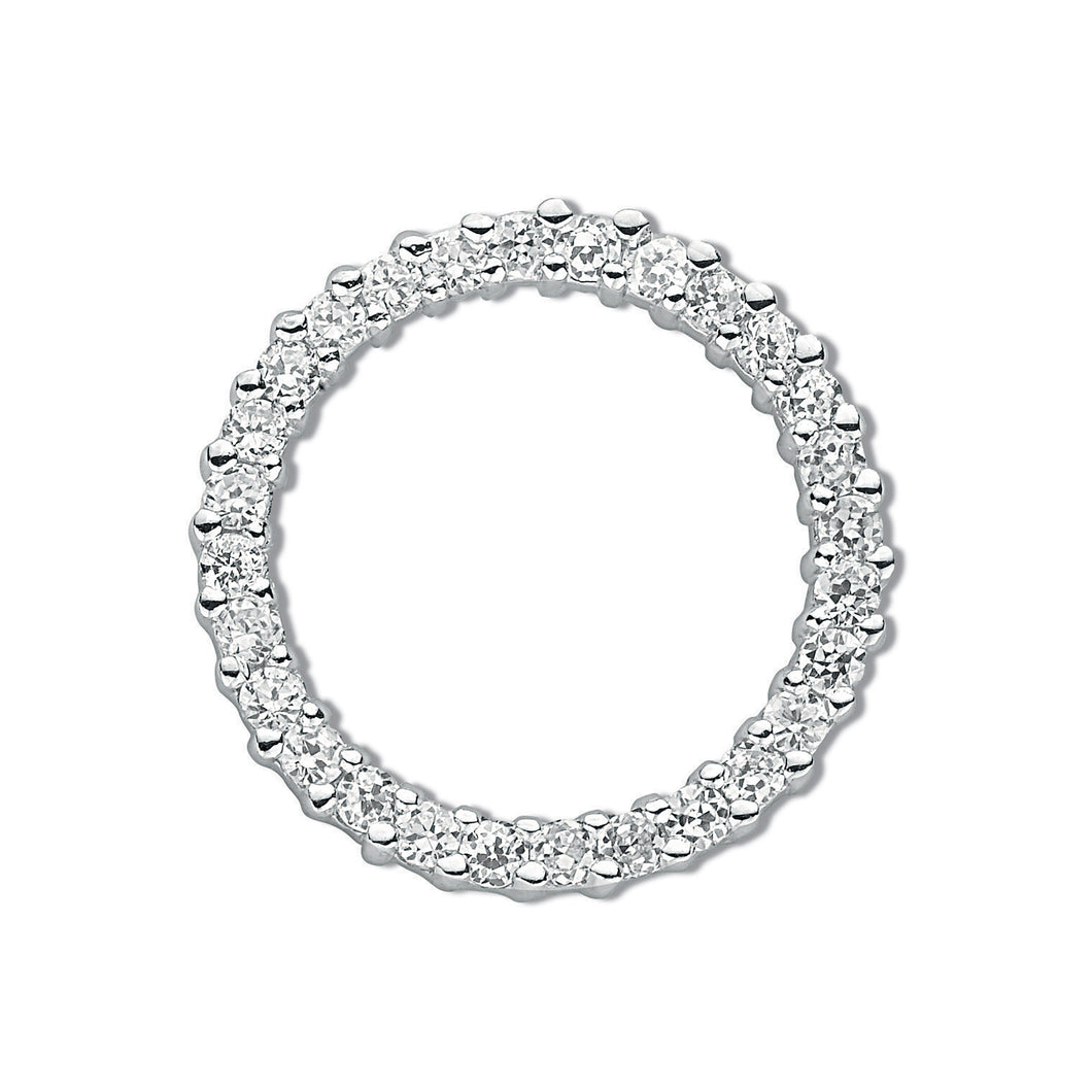 SILVER circle of Life Cz Pendant