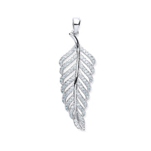 Load image into Gallery viewer, SILVER leaf cz pendant