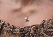 Load image into Gallery viewer, 9k GOLD aries zodiac pendant
