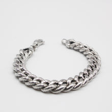 Load image into Gallery viewer, SILVER ribbed cuban bracelet
