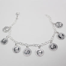 Load image into Gallery viewer, SILVER coin bracelet