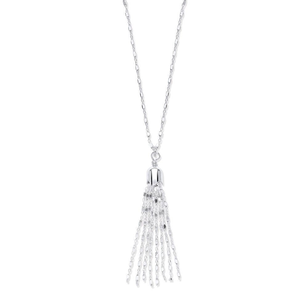 SILVER tassle necklace