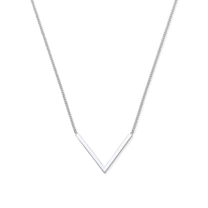 SILVER V' necklace
