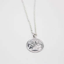 Load image into Gallery viewer, SILVER coin necklace