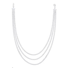 Load image into Gallery viewer, SILVER layered cuban chain