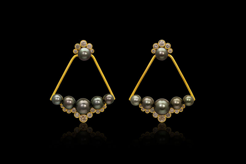 Loren Nicole - Golden 21st Dynasty Ear Ornament - Earring