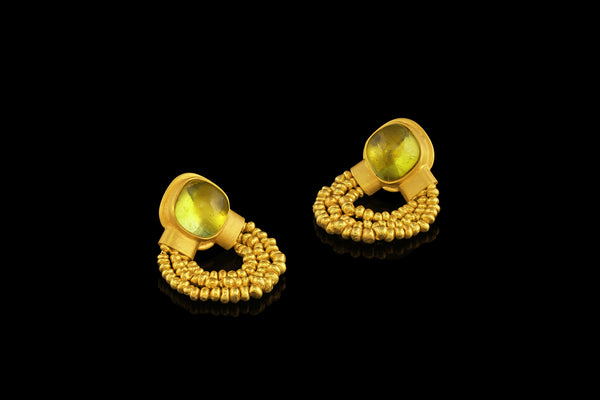 Chartreuse Bead Earring