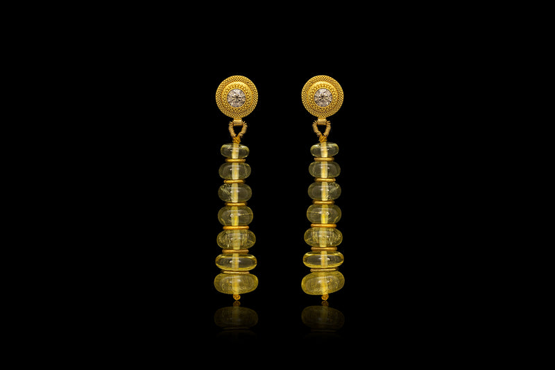 Loren Nicole - Golden Beryl Drop Earrings - Earring