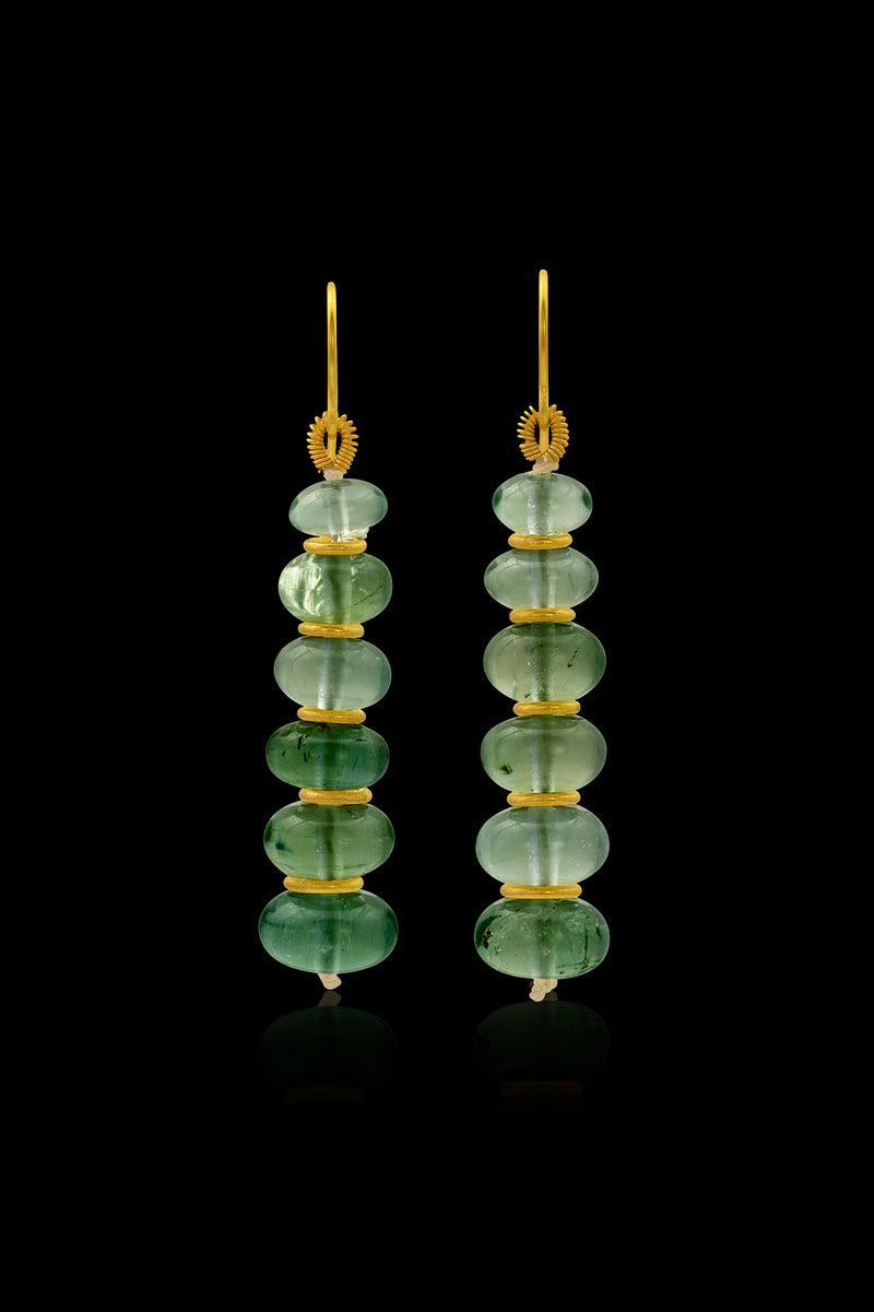 Loren Nicole - Green Beryl Drop Earrings - Earring