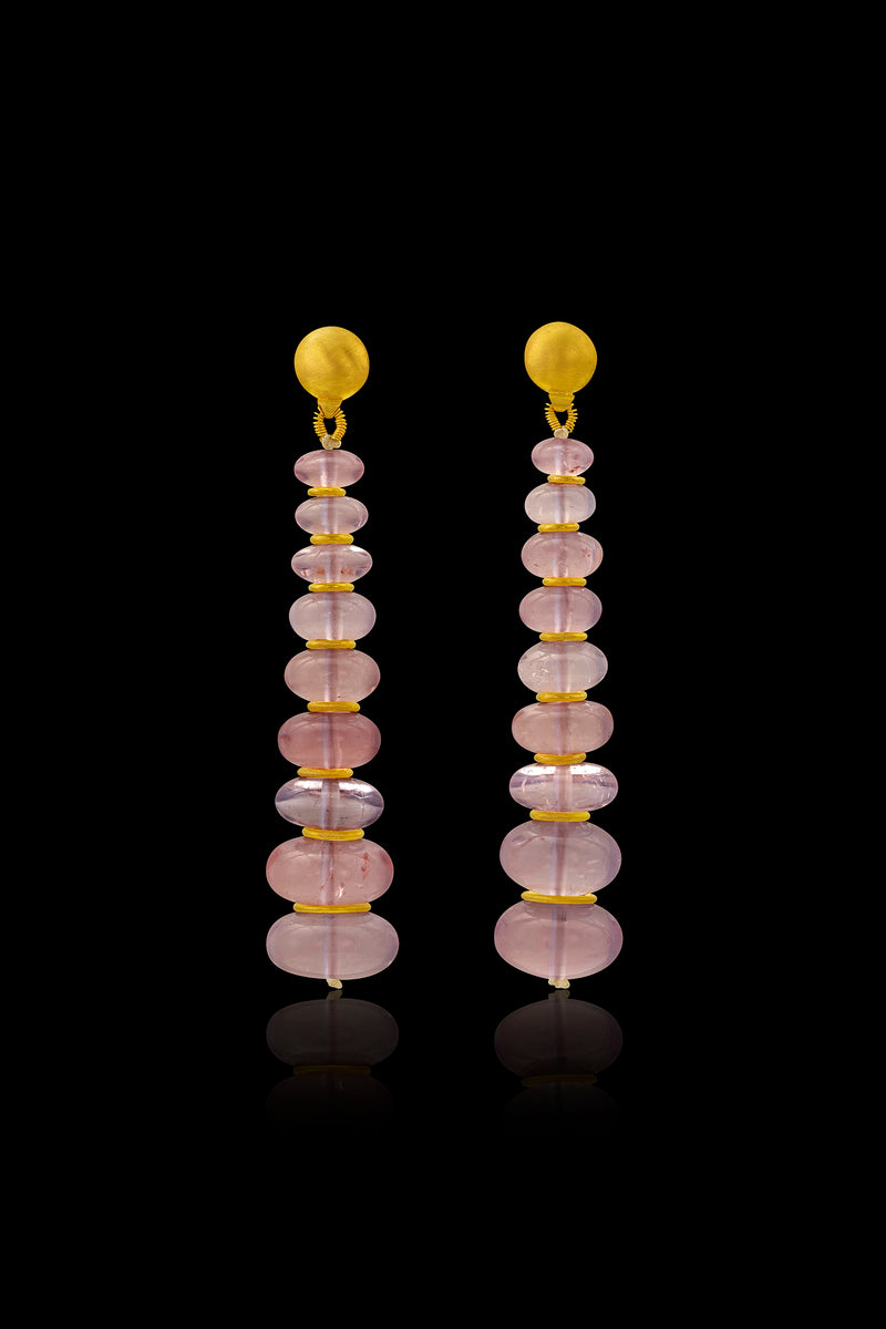 Loren Nicole - Morganite Long Drop Earring - Earring