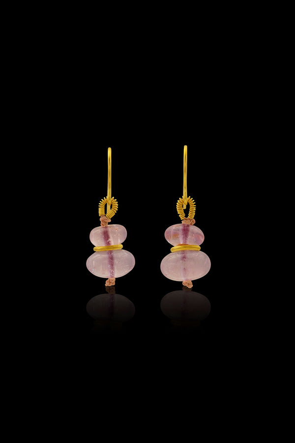 Loren Nicole - Mini Morganite Drop Earrings - Earring