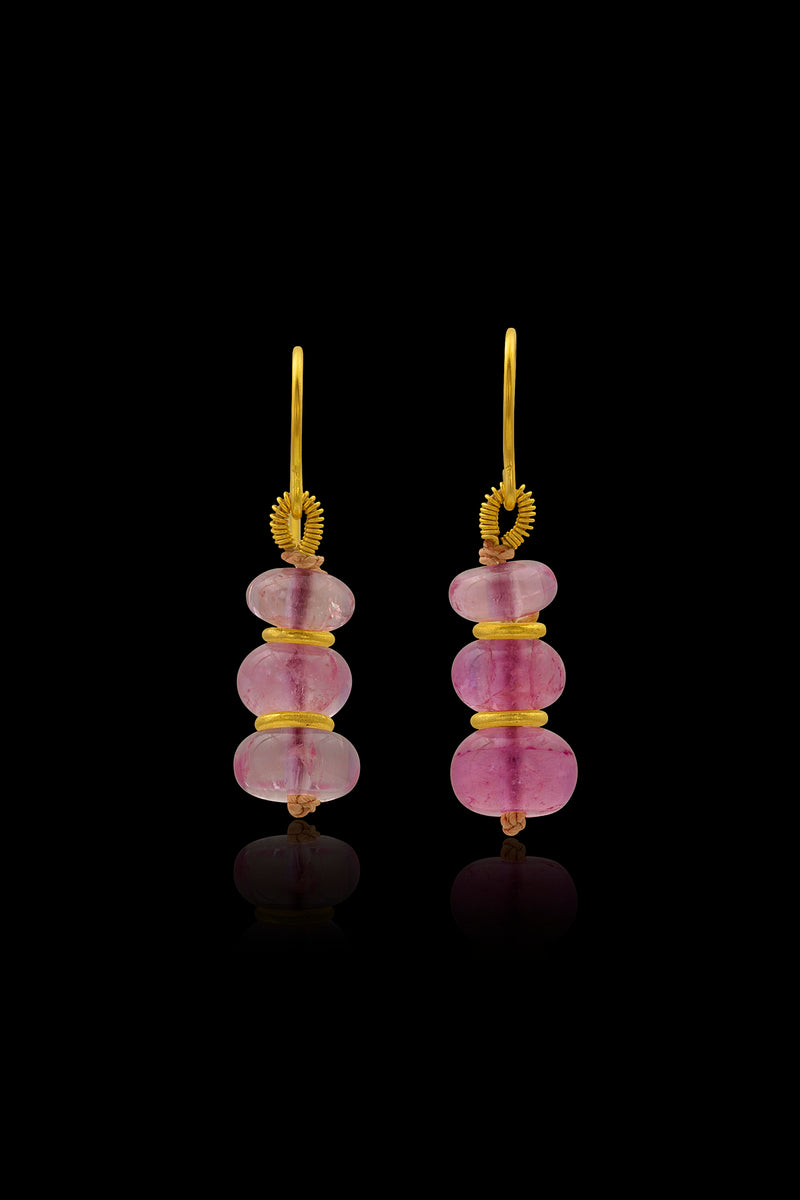 Loren Nicole - Pink Tourmaline Mini Drop Earrings - Earring