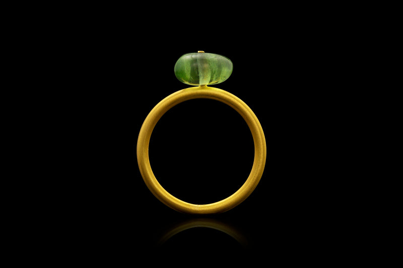 Loren Nicole - Peridot Bead Button Ring - Ring