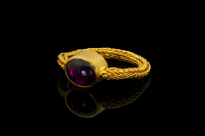 Loren Nicole - Purple Garnet Chain Ring - Ring