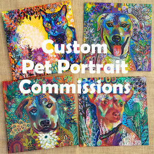 "Custom Pet Portrait - 10""x10"" Original Painting on Canvas"