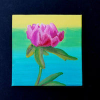 "4"" Pink Flower - Original Painting"
