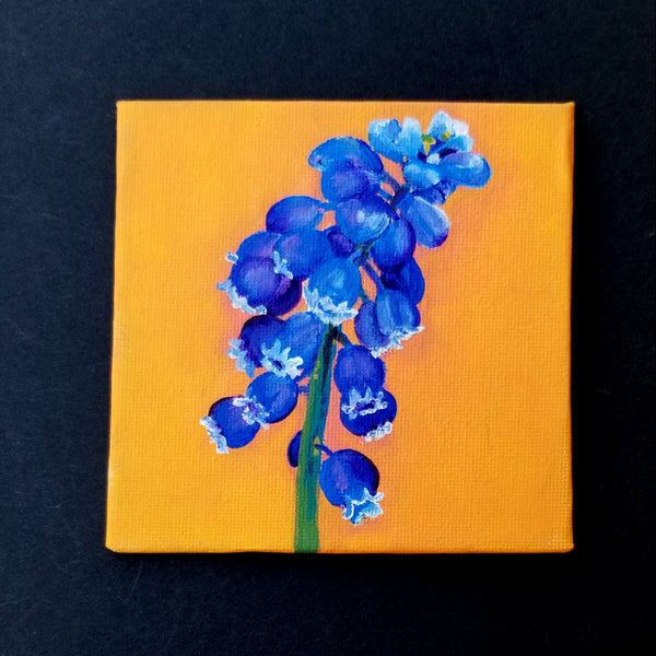 "4"" Blue/Purple Flower - Original Painting"