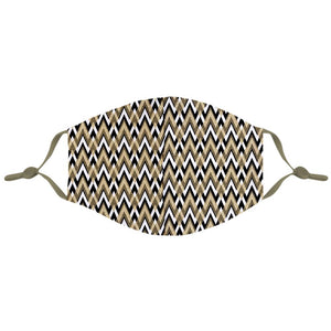 Black and Gold Chevron Mask